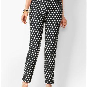 Talbots Chatham black w white dots capris